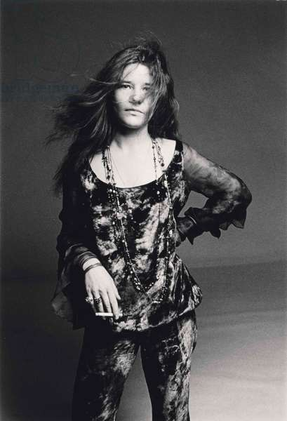 Janis Joplin, 1969 (gelatin silver print)