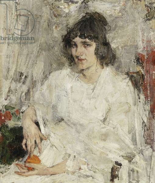 Woman with an Orange, 1912 (oil on canvas)