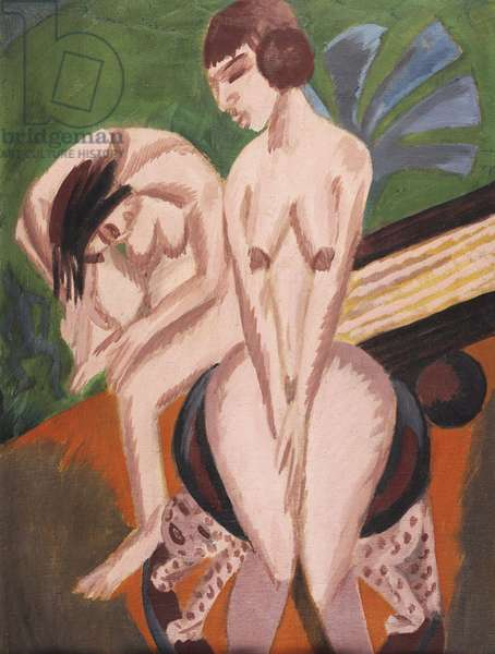 Two Nudes in the Room; Zwei Akte im Raum, 1914 (oil on canvas)