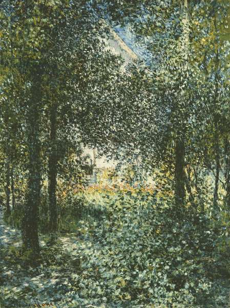 Thicket: The House of Argenteuil, 1876 (oil on canvas)
