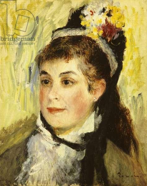 Portrait de Madame Edmond Renoir, 1876 (oil on canvas)