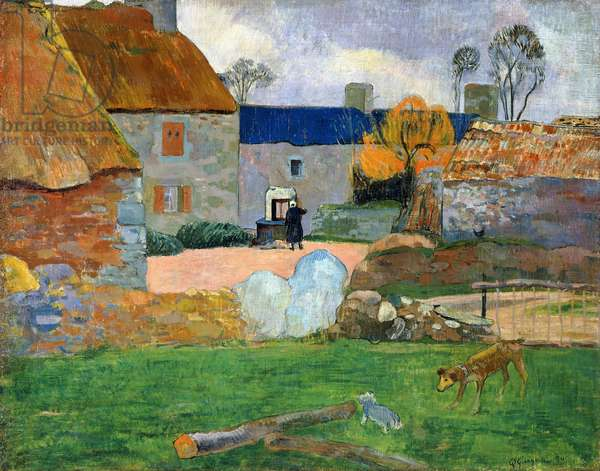 The Blue Roof or Pouldu Farm, 1890 (oil on canvas)