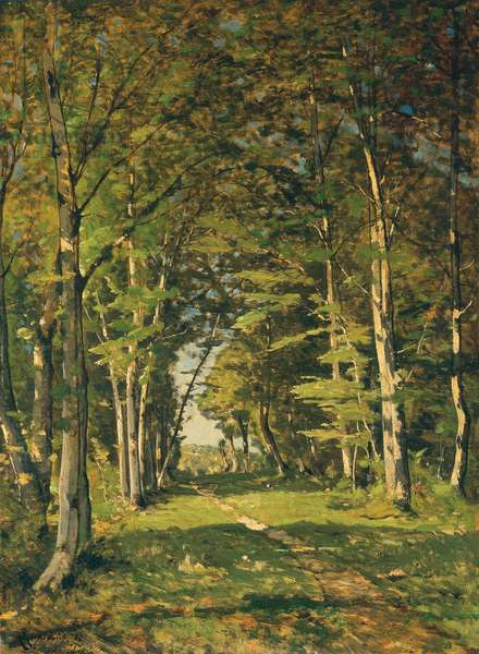 The Woods of Famars, 1887 (oil on canvas)