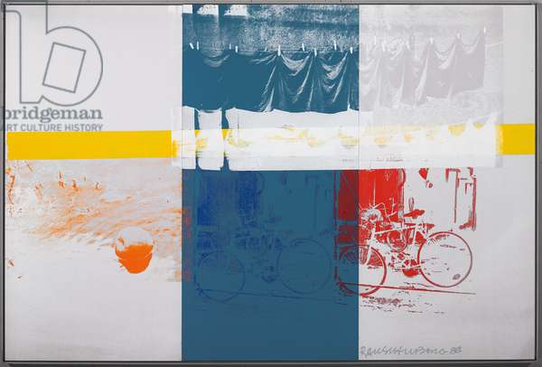 Apple Run, 1988 (silkscreen inks on mirrored steel)
