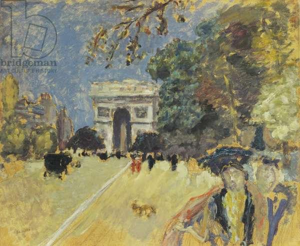 L'Arc de Triomphe, c.1899 (oil on paper laid down on panel)