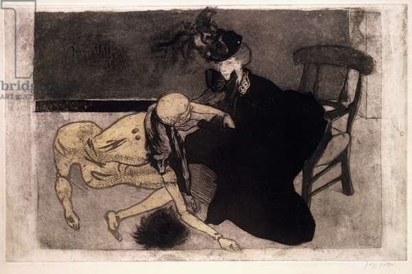 Woman with a Mannequin (Woman and a Dummy), 1899 (soft-ground etching with aquatint)