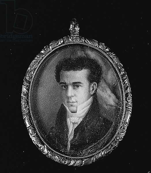 Self portrait, 1827 (w/c on ivory)
