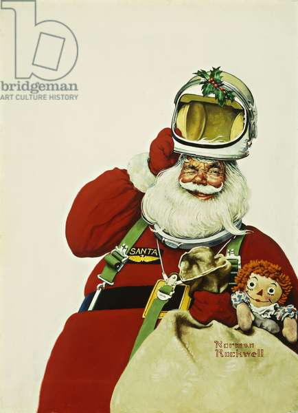 Space Age Santa, 1967 (oil on canvas)
