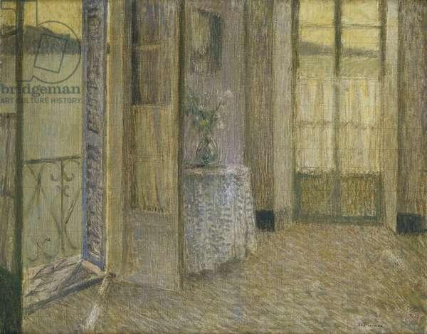 The Blue Room, Villefranche sur Mer; Le Chambre Bleu,Villefranche sur Mer, (oil on canvas)