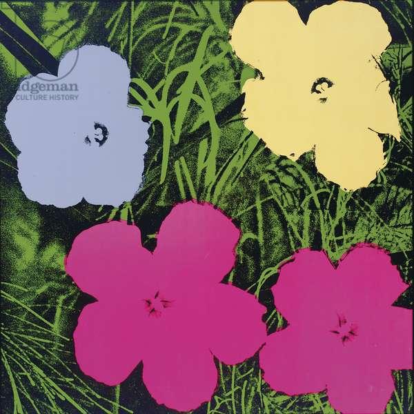 Flowers, 1970 (colour screenprint on wove paper)