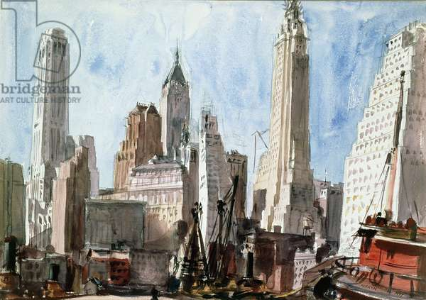 Skyscrapers, 1931 (oil on canvas)
