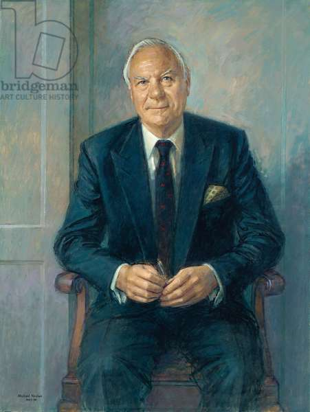 Portrait of Sir Christopher Benson, seated, 1997-98 (oil on canvas)
