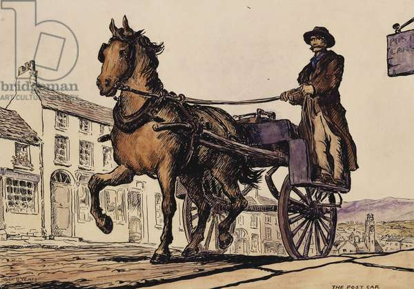 The Post Car, 1907-08 (pen, brush, black ink and watercolour)