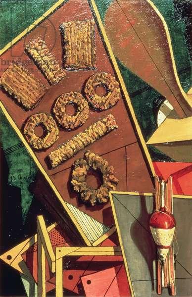 Interiore Metafisico, 1917 (oil on canvas)