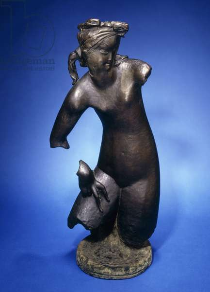Young Girl, 1926 (bronze with dark brown and green patina)