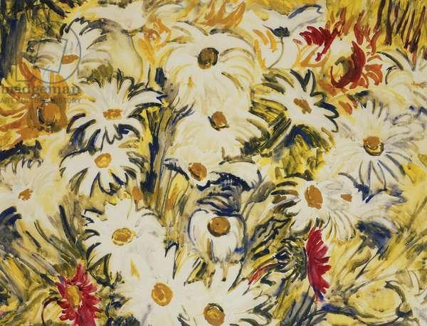 Daisies, 1938 (gouache)