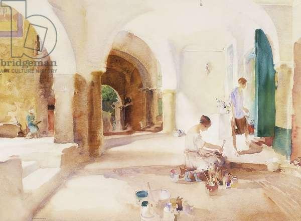 Painters, Cagnes, (watercolour)