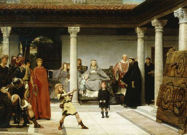 The Education of the Children of Clovis (School of Vengeance; Training of Clotilde's Sons), 1861 (oil on canvas)