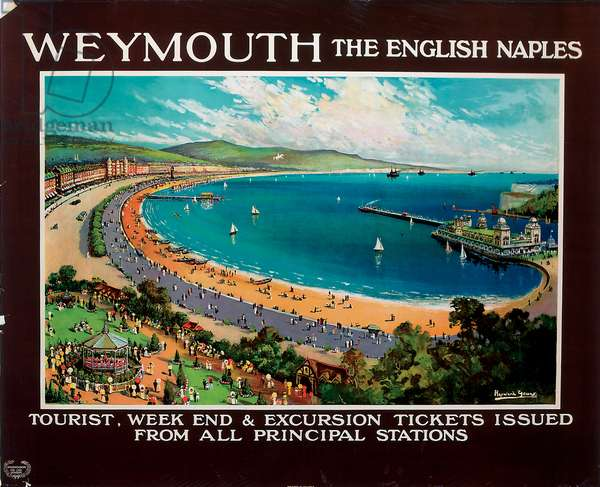 Weymouth, the English Naples, c.1930 (colour litho)