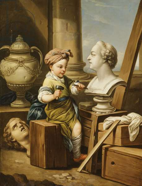 The Four Arts - Sculpture,  (oil on canvas)