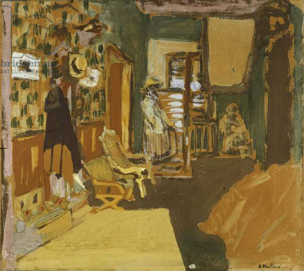 Mme Hessel in the Hallway, c.1909 (distemper on canvas)