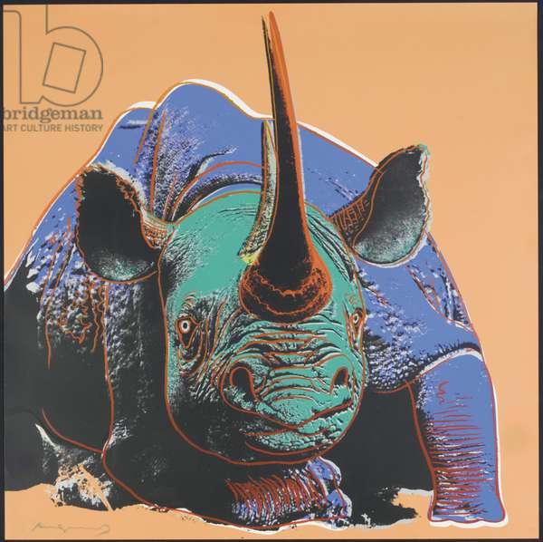 Black Rhinoceros, 1983 (screenprint)