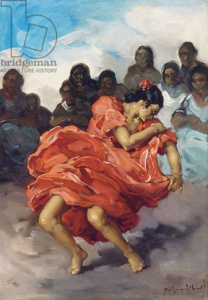 Dancing Flamenco (oil on canvas)