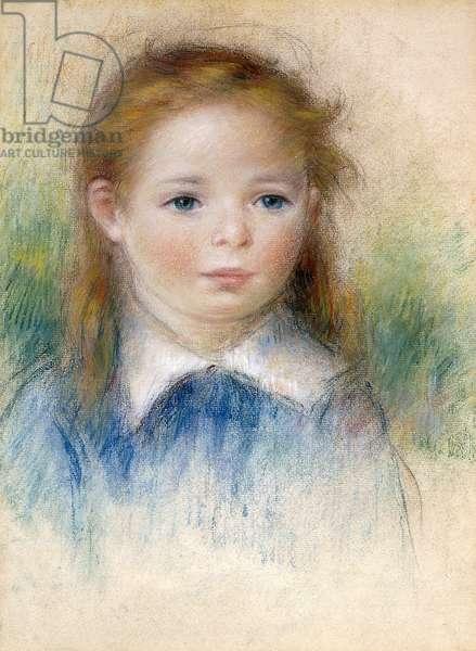 Portrait of a Girl; Portrait de Fillette, (pastel on paper)