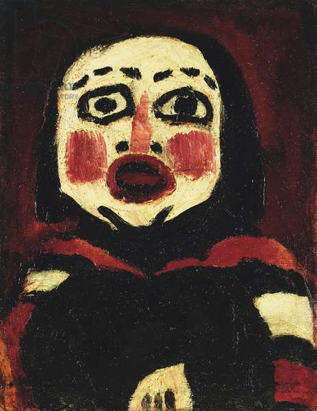Fetish Head; Fetischkopf, 1912 (oil on canvas)