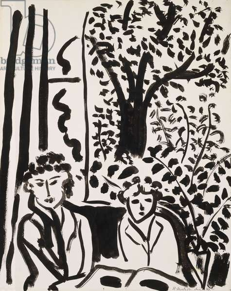 The Silence Living in  Houses; Le Silence Habite des Maisons, 1947 (brush and india ink on j whatman paper laid down on board)