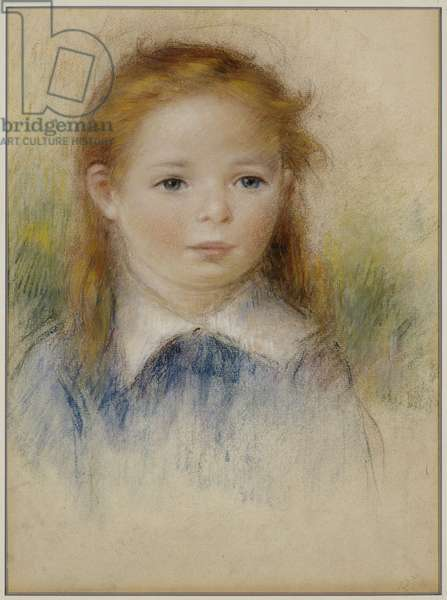 Portrait of a Young Girl (pastel on paper)