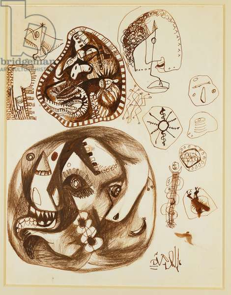 Untitled, 1939-42 (pen & brown ink and brown crayon)