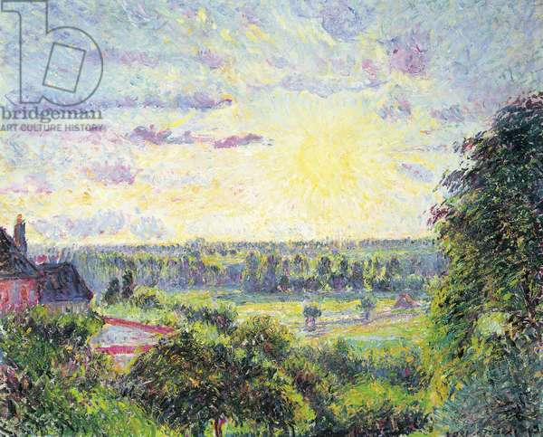 Sunset at Eragny, 1891 (oil on canvas)