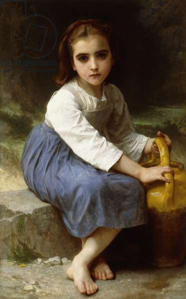 Young Girl with a Pitcher; Jeune Fille a la Cruche, 1885 (oil on canvas)