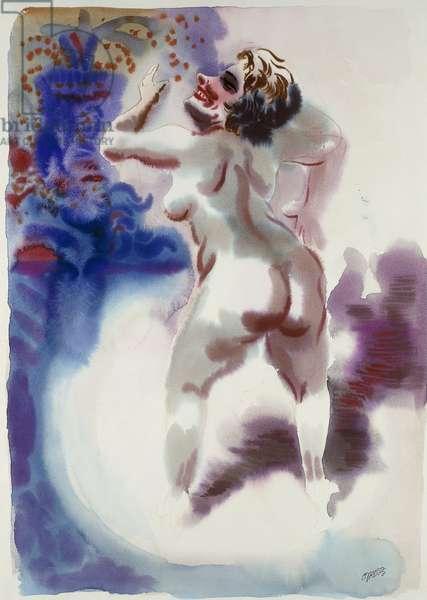Burlesque Tanzerin, c. 1933-34 (watercolor on paper)