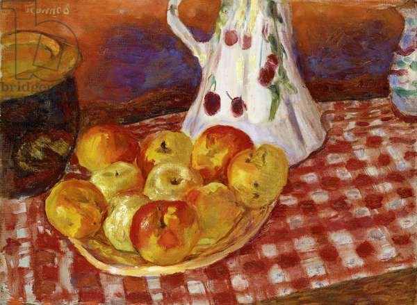 Red and Yellow Apples, 1920 (oil on canvas)