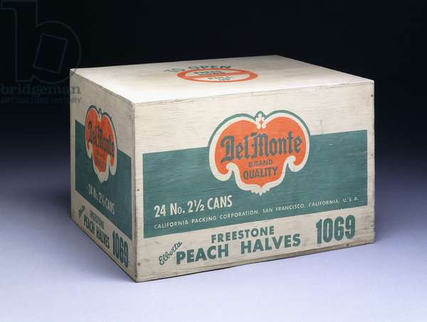 Del Monte Box (Peach Halves), 1964 (silkscreen inks on wood)