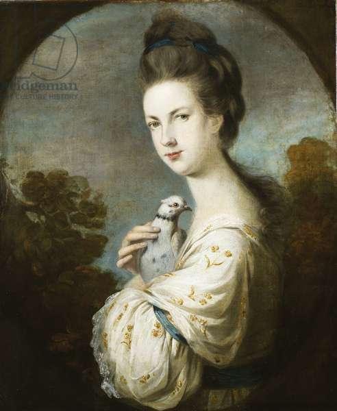 Portrait of Miss Juliet Langton standing, half length, 1764 (oil on canvas)