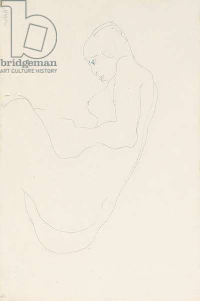 Seated nude, 1912 (pencil on paper) (verso of 993707)