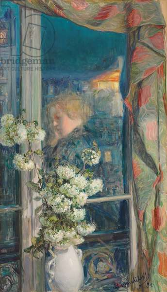 Reflection of an Intimate World, 1894 (pencil and oil on canvas)