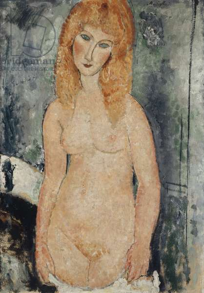 Nude Standing, c.1917-18 (oil on canvas)