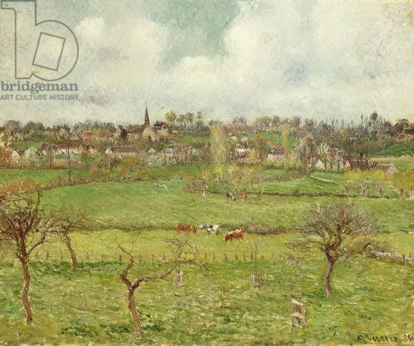 View of Bazincourt; Vue de Bazincourt, 1884 (oil on canvas)