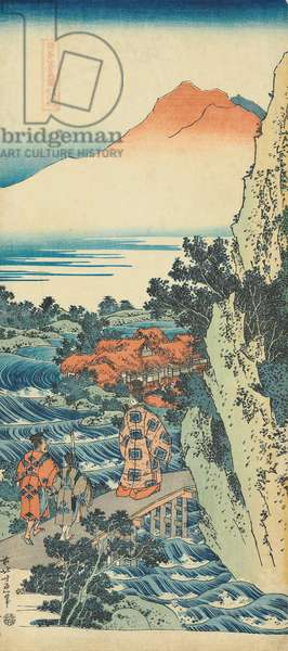 Print from the series 'A True Mirror of Chinese and Japanese Poems (Shiika shashinkyo)', c.1833 (colour woodblock print)