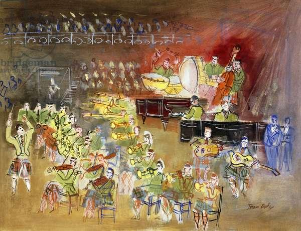 The Orchestra; L'Orchestre, c.1945 (gouache on paper)
