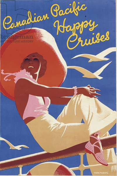 Canadian Pacific, Happy Cruises, 1937 (colour litho)