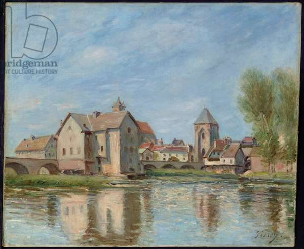 The Bridge and Mills of Moret sur Loing, 1892 (oil on canvas)