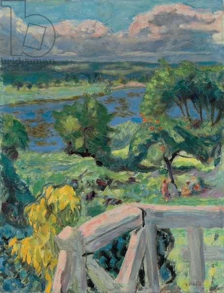 Coup de Soleil (La terrasse de 'Ma Roulotte' a Vernonnet), 1916 (oil on canvas)