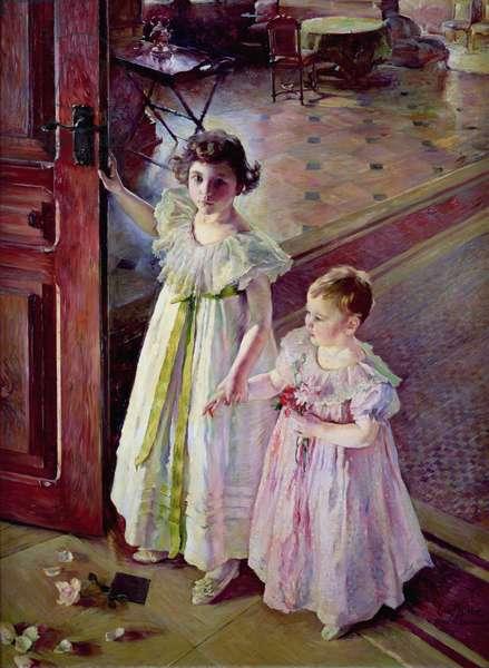 Little Girls in an Interior