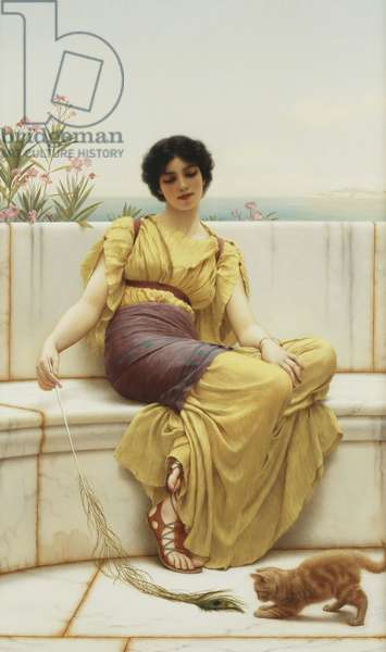 Idleness, 1900 (oil on canvas)