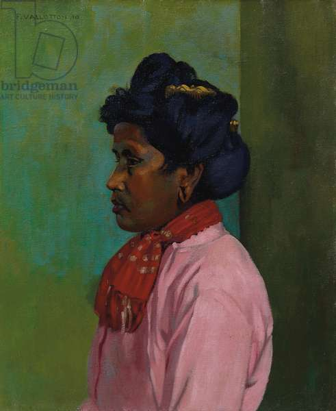 Black woman with pink blouse, 1910 (oil on canvas)